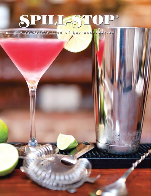 Spill-Stop Bar Drain Tray